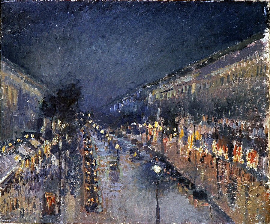 Pissarro: Paris At Night Photograph