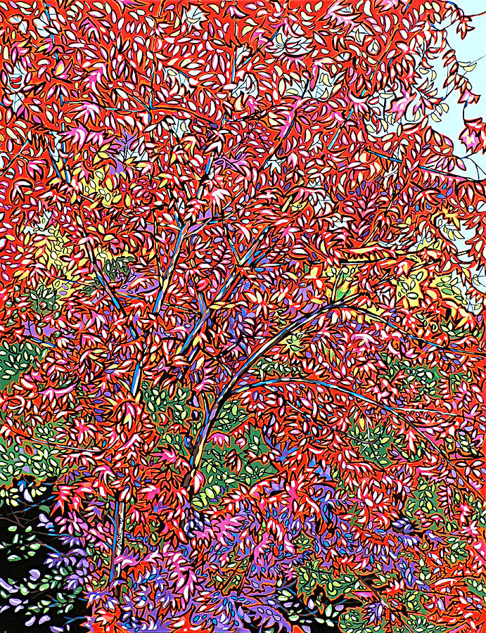 Pistache Tree Painting