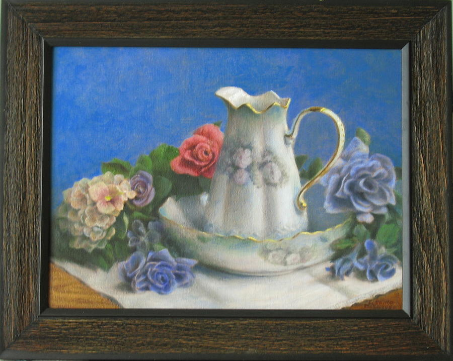 Old Fashioned Pitcher In Basin Painting - Pitcher And Basin by Eleanor Mcintosh