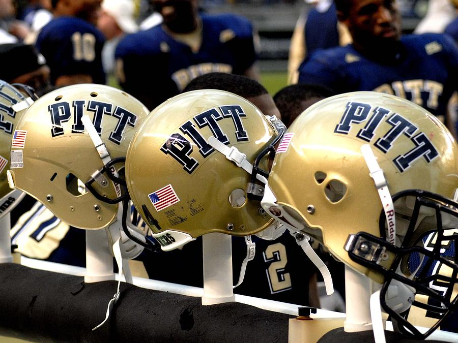 Pitt Helmets Awaiting Action Photograph