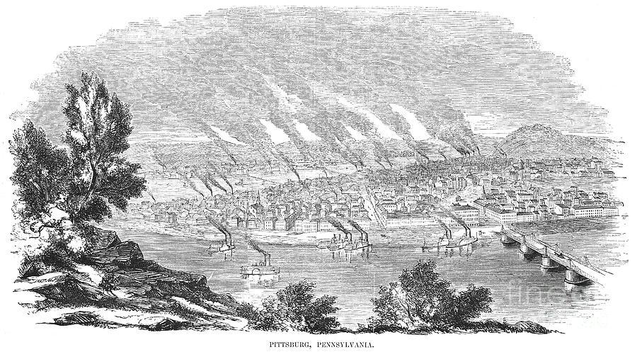 Pittsburgh, 1855 Photograph