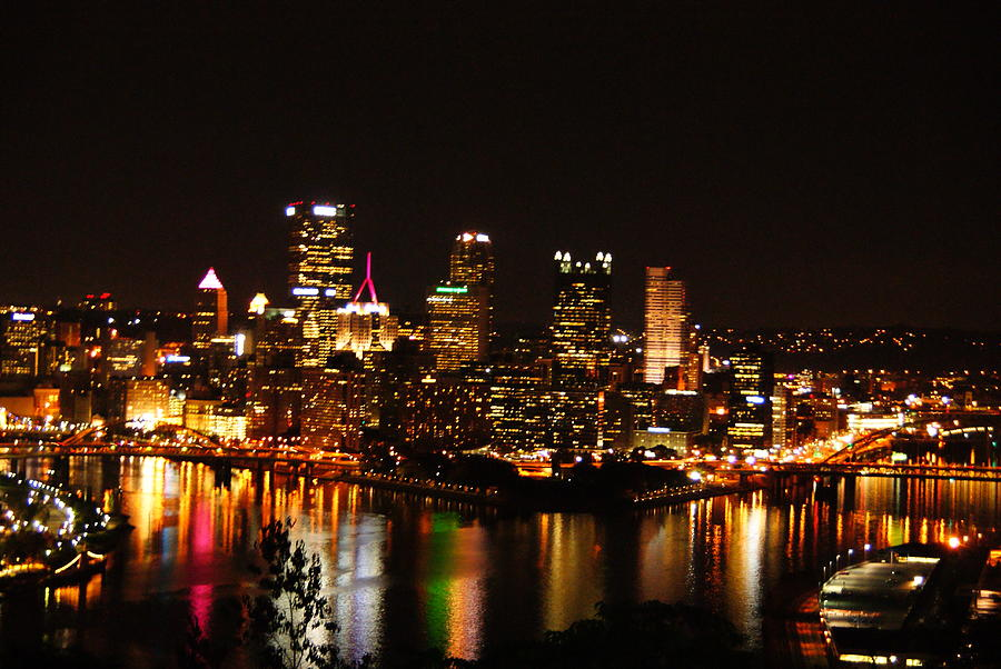 Pittsburgh At Night I Photograph  - Pittsburgh At Night I Fine Art Print