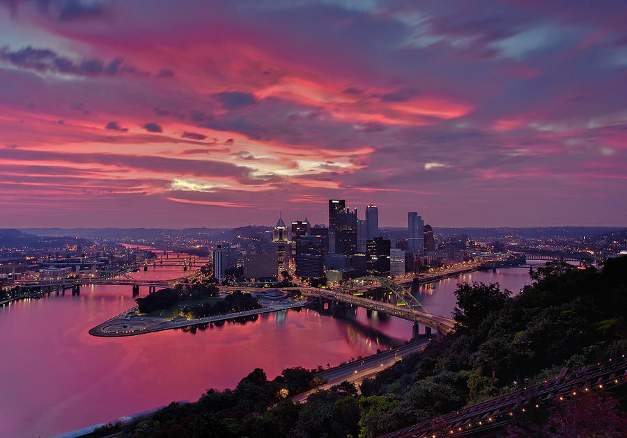 Pittsburgh Dawn Photograph  - Pittsburgh Dawn Fine Art Print
