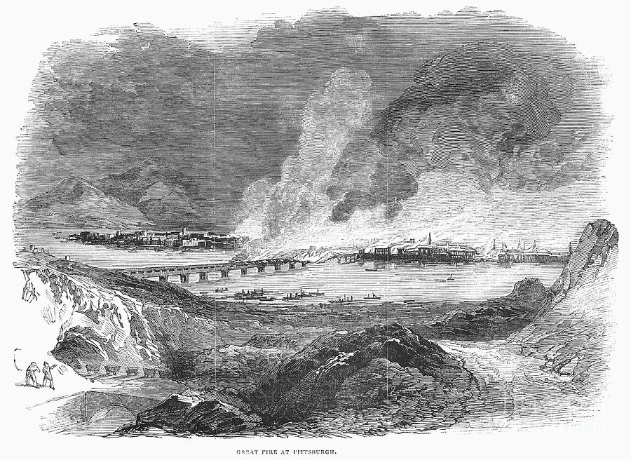 Pittsburgh: Fire, 1845 Photograph