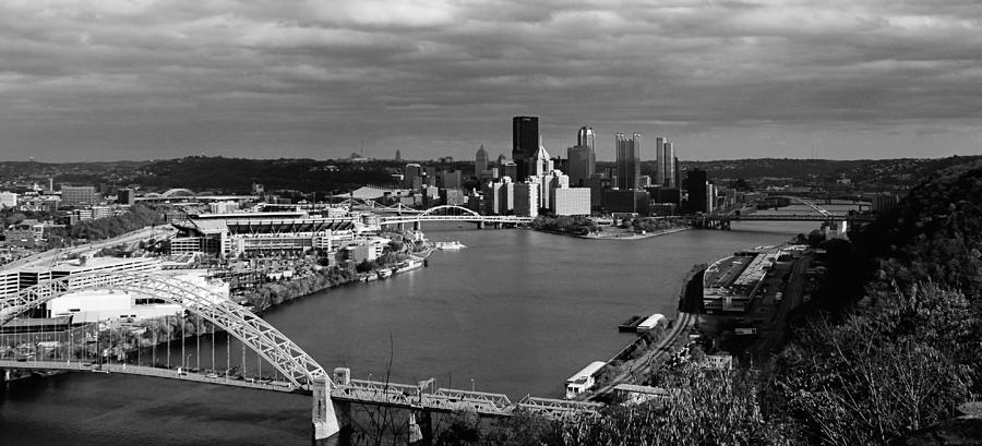 Pittsburgh In Black And White Photograph