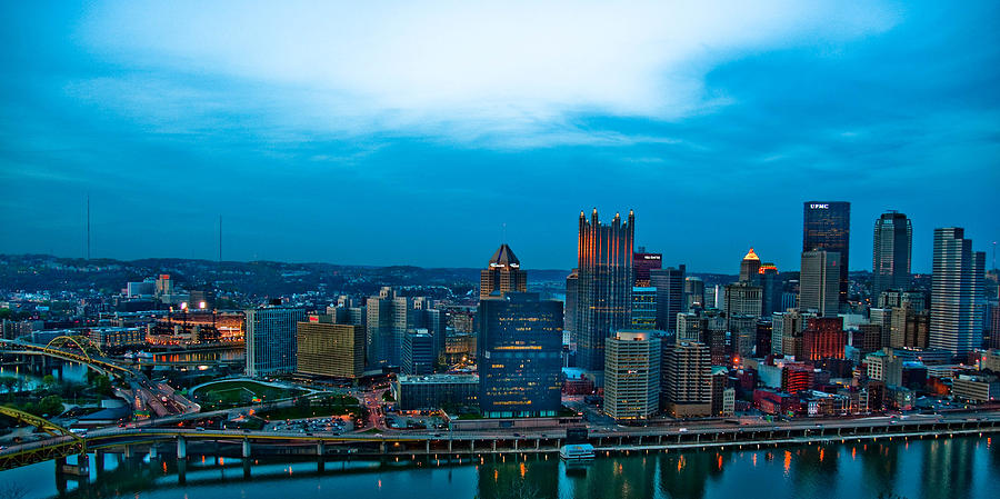 Pittsburgh In Hdr Photograph  - Pittsburgh In Hdr Fine Art Print