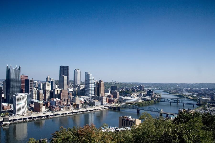 Pittsburgh Skyline And Allegheny River Photograph