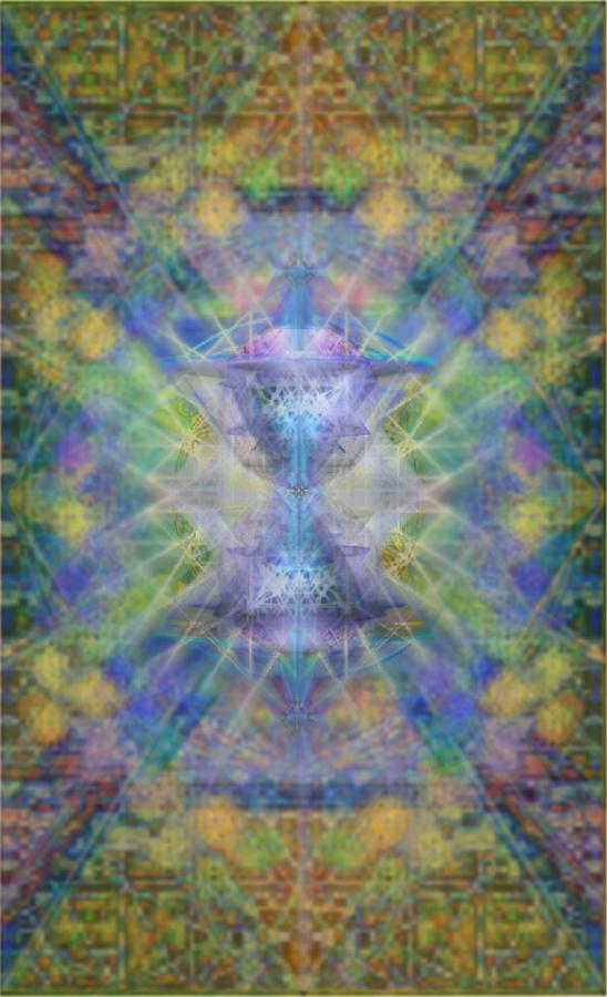 Pivortexspheres On Chalicell Garden Tapestry Ivb Digital Art