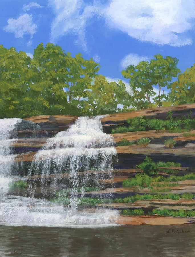 Waterfalls Painting - Pixley Falls by Lynne Reichhart