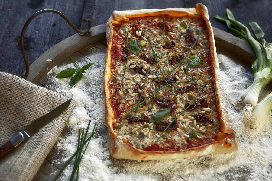 Pizza With Herbs Photograph