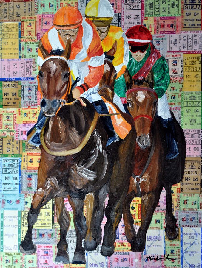 Place Your Bets Painting  - Place Your Bets Fine Art Print