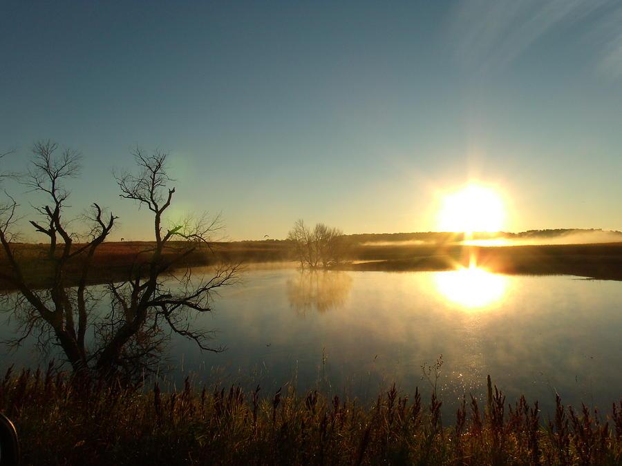 Placid Glass Lake At Dawn Photograph