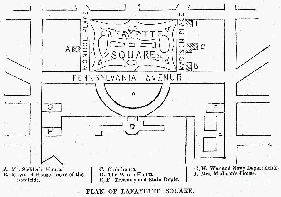 Plan Of Lafayette Square Photograph