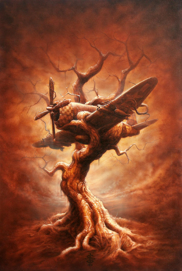 Plane Old Tree Painting  - Plane Old Tree Fine Art Print