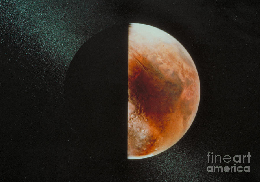 Planet Mars Photograph by Nasa