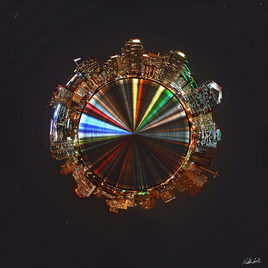 Planet Wee San Diego California By Night Photograph By