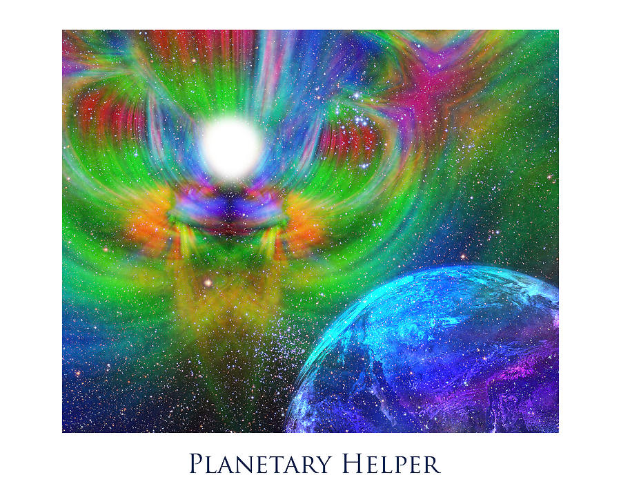 Planetary Helper Digital Art  - Planetary Helper Fine Art Print