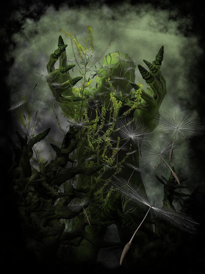Gothic Horror Digital Art - Plant Man Cometh by Michael Knight