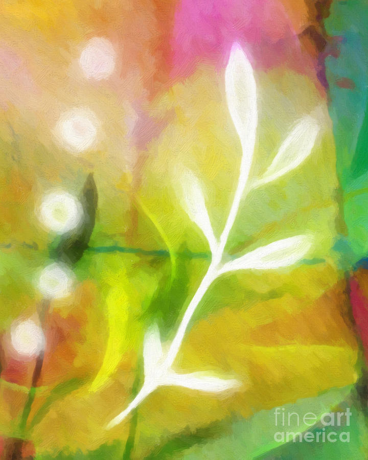 Plant Of Light Painting  - Plant Of Light Fine Art Print