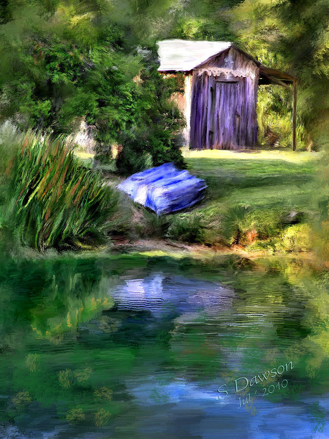 Plantation Barn Digital Art