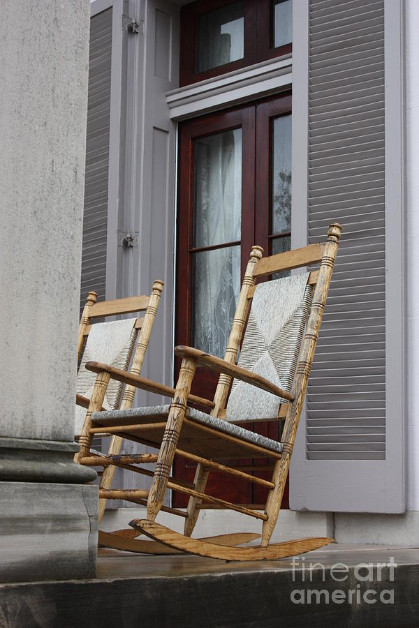 Plantation Rocking Chairs Photograph  - Plantation Rocking Chairs Fine Art Print