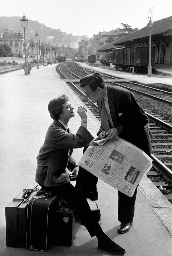 Young Adult Photograph - Platform Cigarette by Kurt Hutton