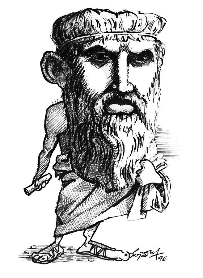 Plato, Caricature Photograph