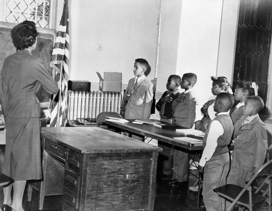 Pledge Of Allegiance, 1958 Photograph