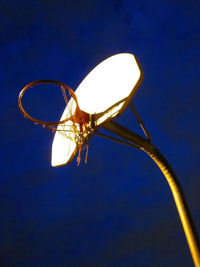 Basketball Net Photograph - Plenty Of Swoosh Left by Guy Ricketts