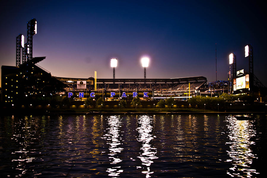 Pnc Park At Night Photograph