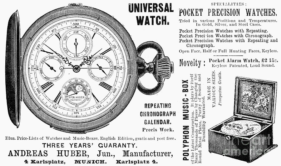 1897 Photograph - Pocket Watch, 1897 by Granger