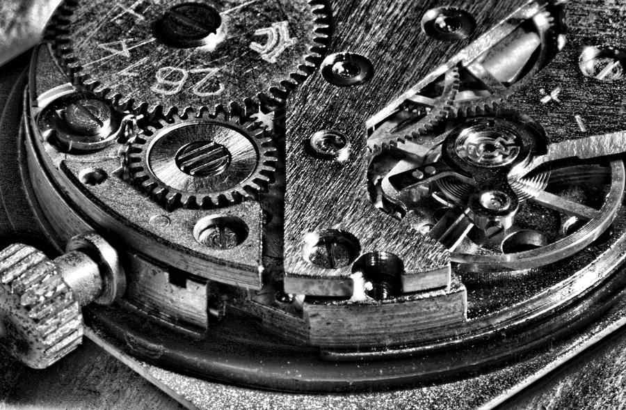 Pocket Watch Mechanism Photograph