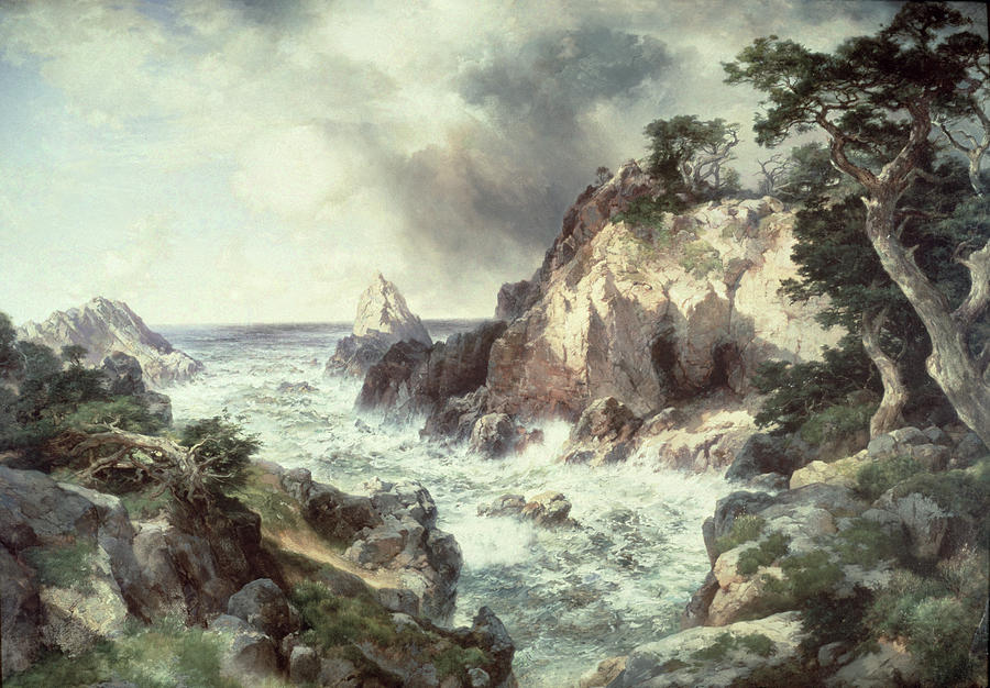 Point Lobos At Monterey In California Painting  - Point Lobos At Monterey In California Fine Art Print