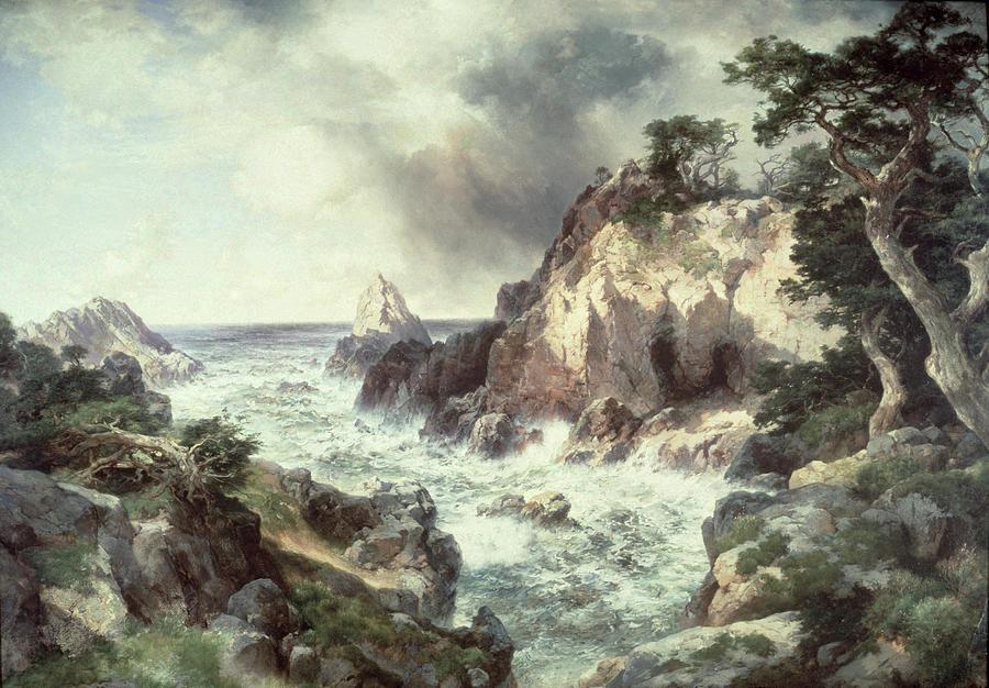Thomas Moran Painting - Point Lobos At Monterey In California by Thomas Moran
