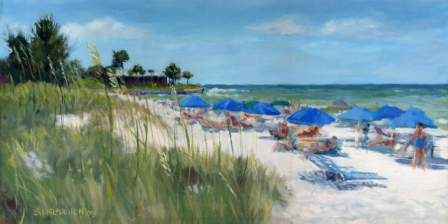 Point Of Rocks On Siesta Key Painting  - Point Of Rocks On Siesta Key Fine Art Print