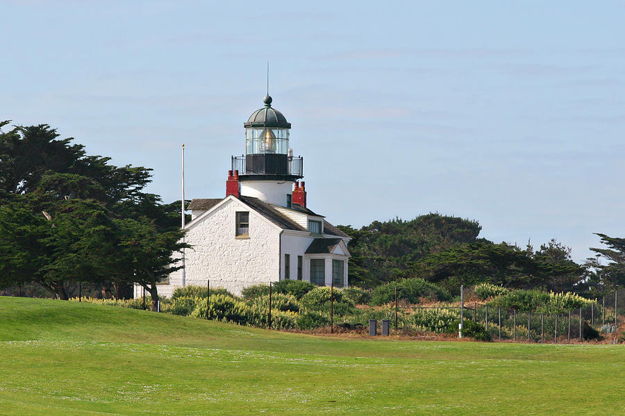 Point Pinos Light - Lighthouse On The Golf Course - Pacific Grove Monterey Central Ca Photograph