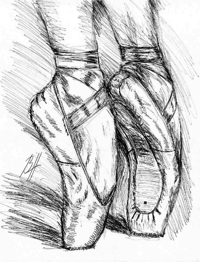 Pointe Shoes Drawing