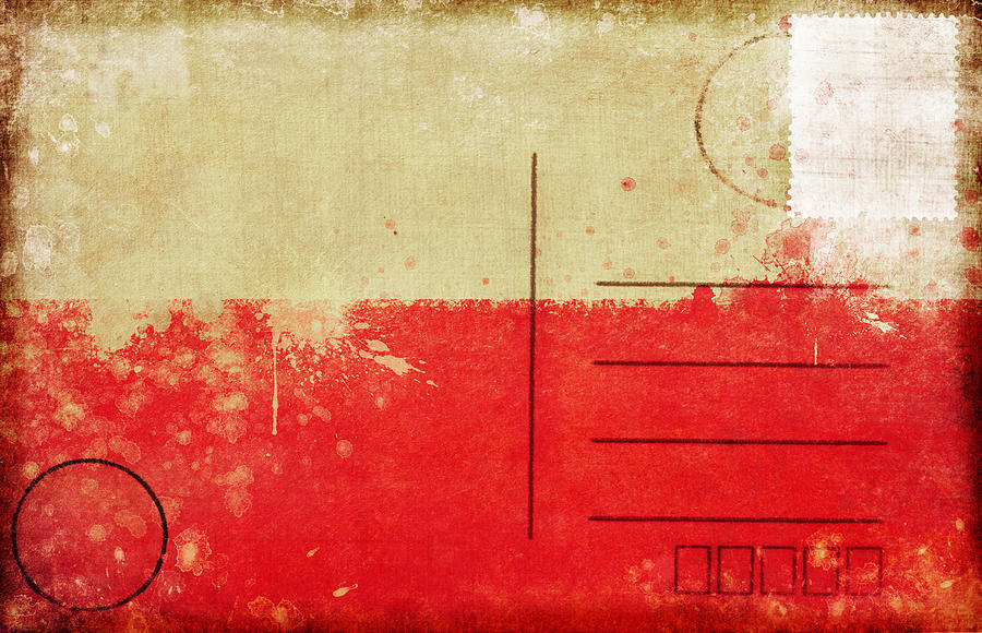Poland Flag Postcard Photograph  - Poland Flag Postcard Fine Art Print