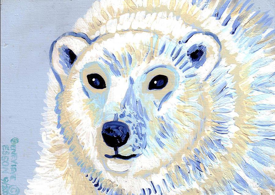 Polar Bear Painting - Polar Bear by Genevieve Esson