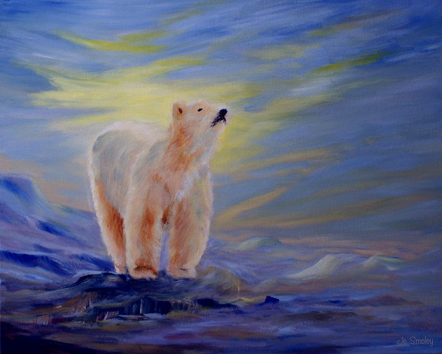 Polar Bear Painting  - Polar Bear Fine Art Print
