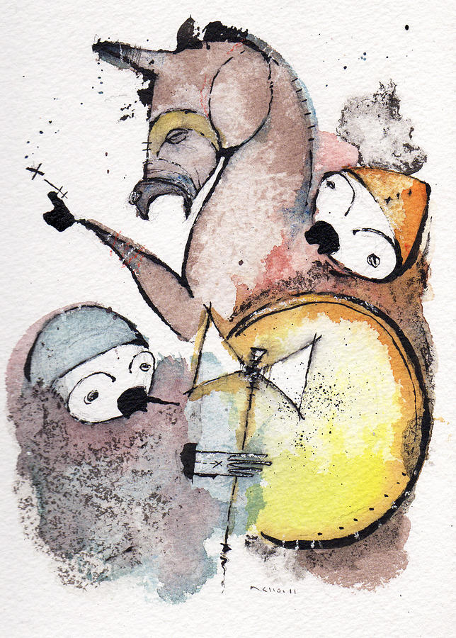 War Drawing - Polemos 9 by Mark M  Mellon