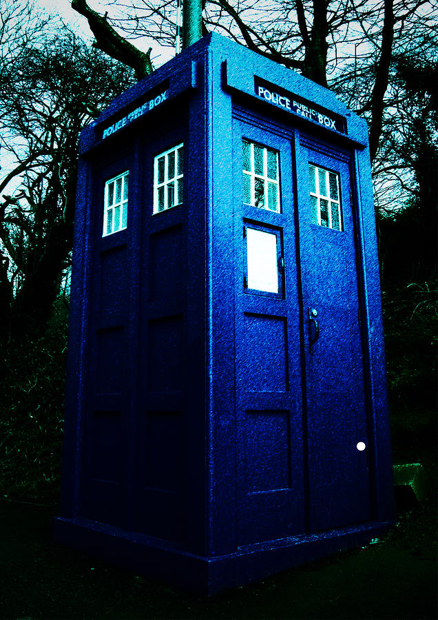 Police Box Digital Art  - Police Box Fine Art Print