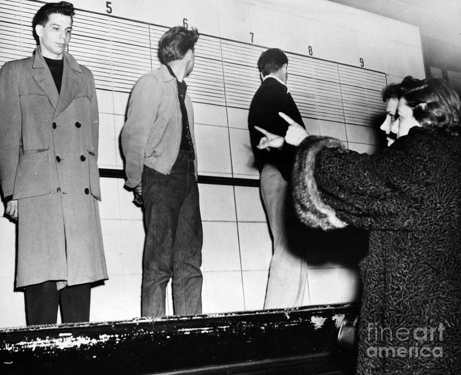 Police Lineup, 1953 Photograph