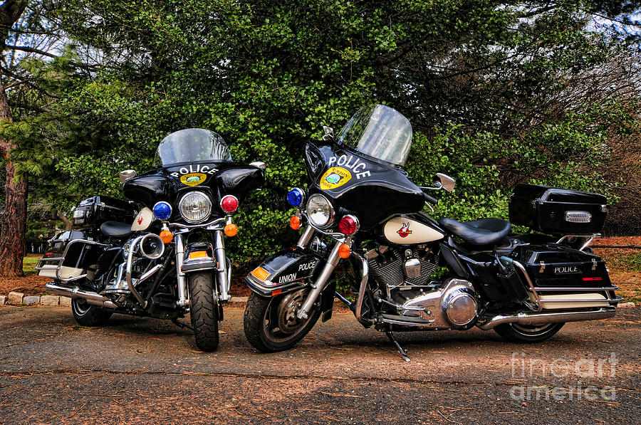 Police Motorcycles Photograph