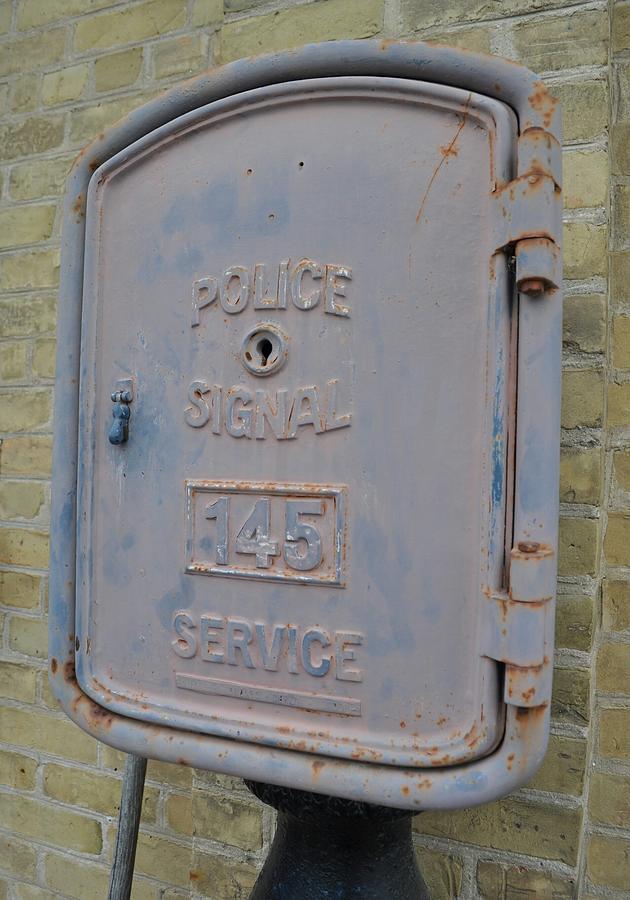 Police Photograph - Police Signal Box by Daryl Macintyre