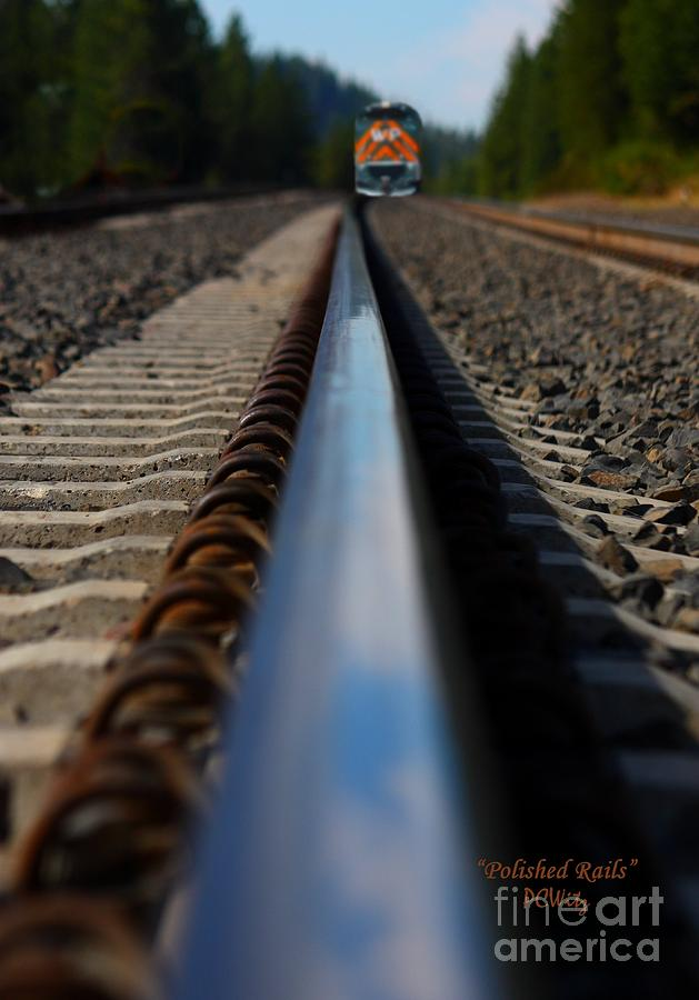 Polished Rails Photograph  - Polished Rails Fine Art Print