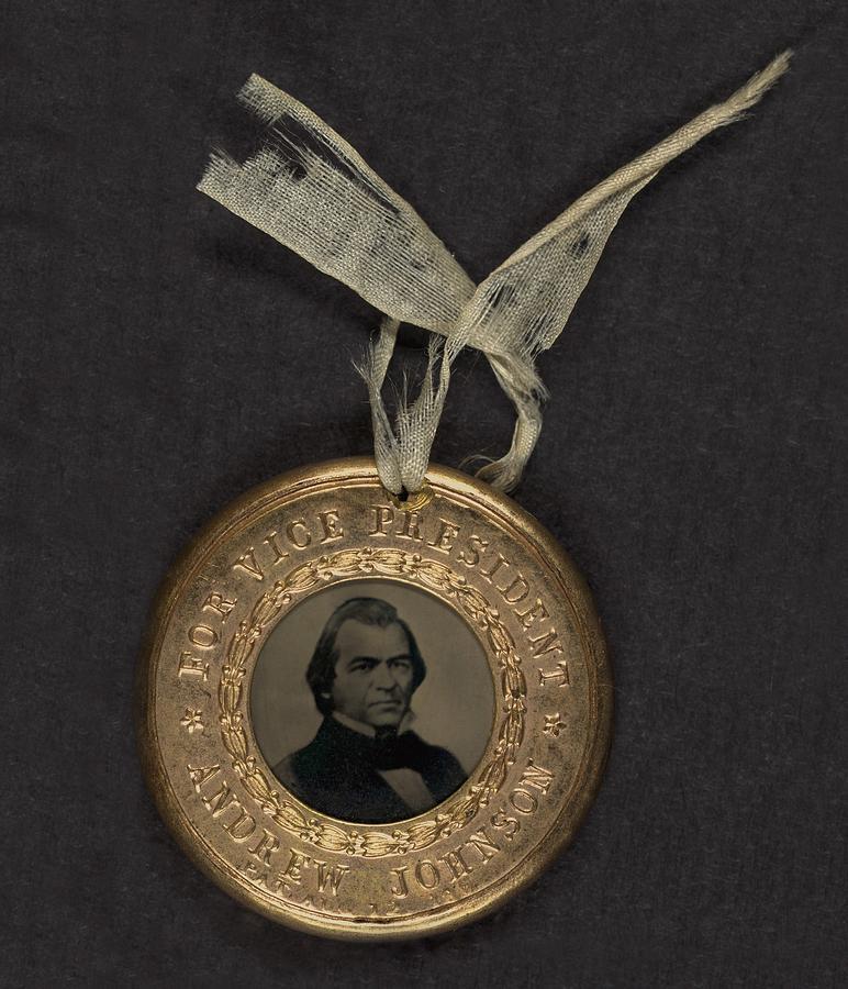 Political Campaign Button For 1864 Photograph