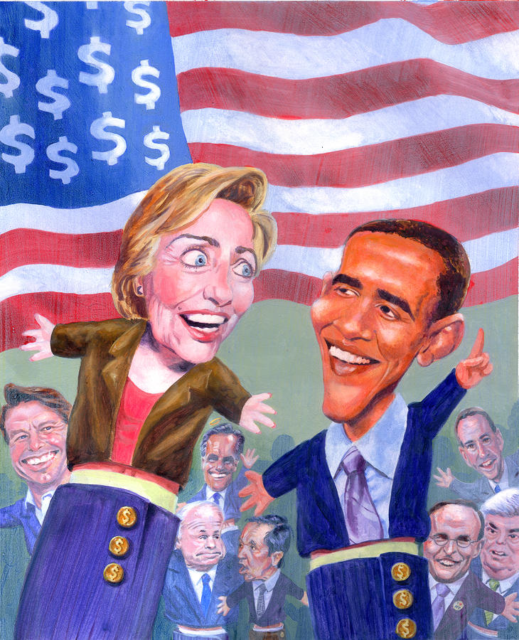 Political Puppets Painting