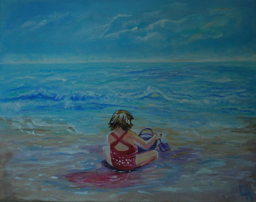 Polka Dot Beach Fun Painting