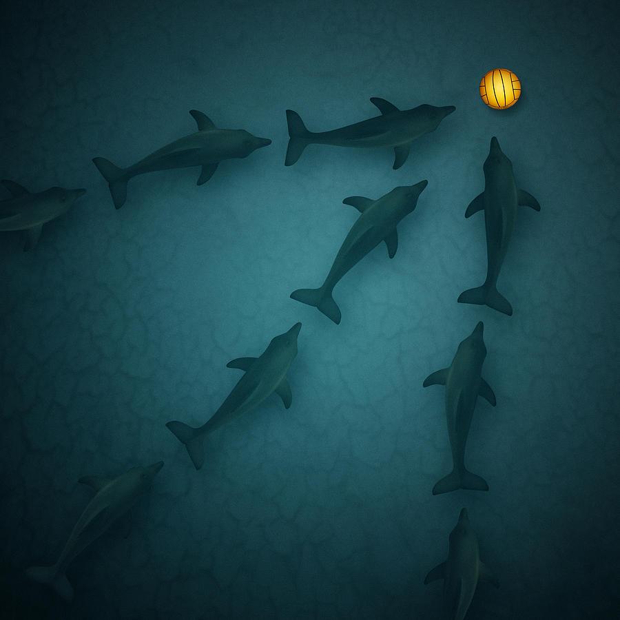 Polo Dolphins Digital Art
